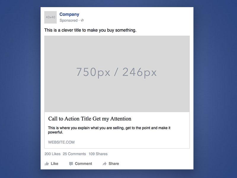 Facebook Werbung Beispiel