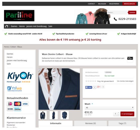 Onlineshop Gestaltung