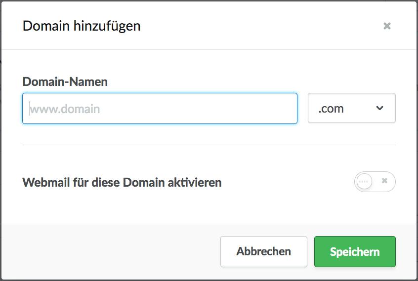 Domain einstellen Lightspeed